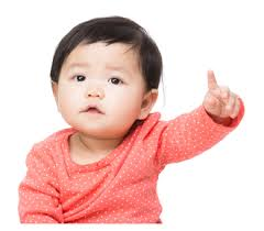 baby pointing